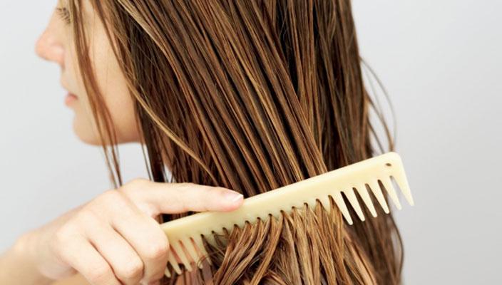 Pente de madeira para cabelo volumoso