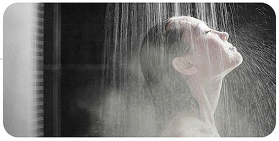 Diminua a temperatura da água no banho