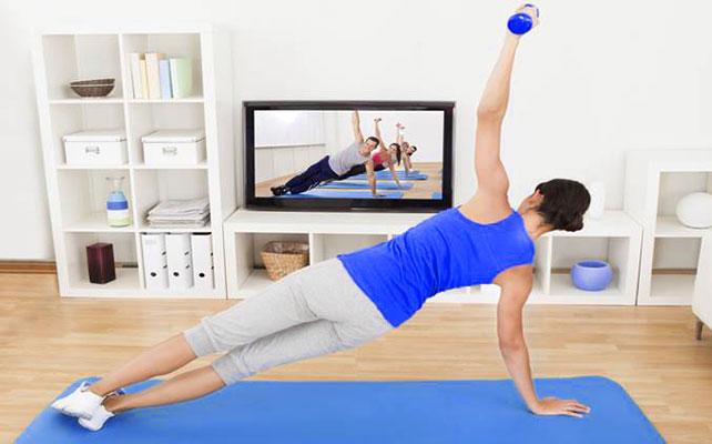 Saia do Sedentarismo fazendo exercícios em casa