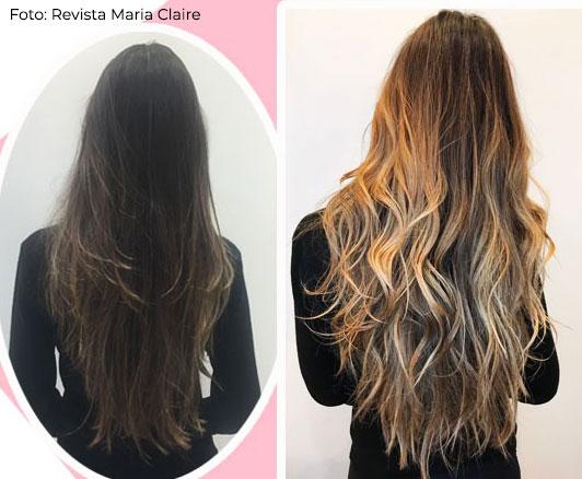 como dar volume em cabelos finos - mechas hair contour