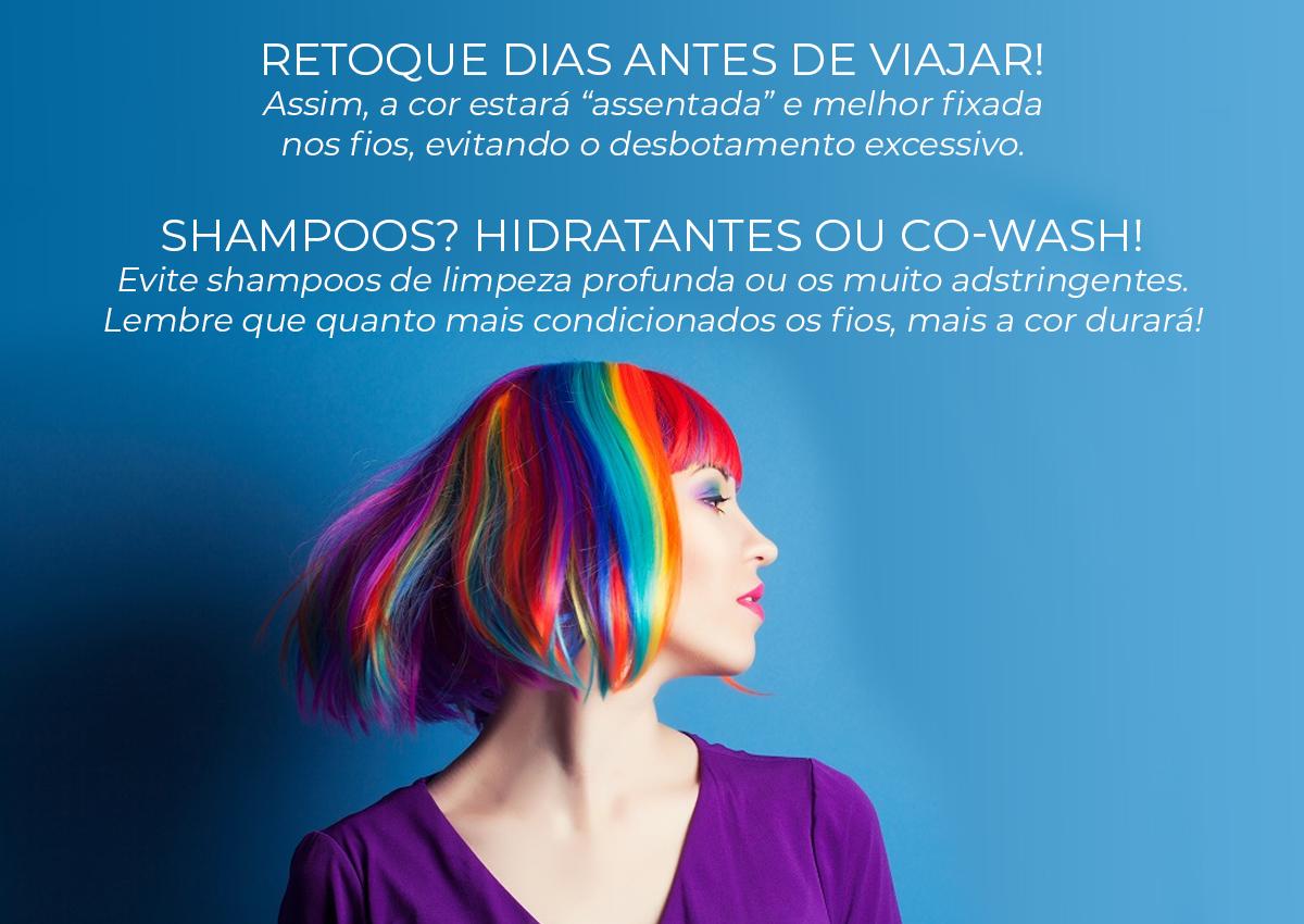 cabelos coloridos: cuidados no verão