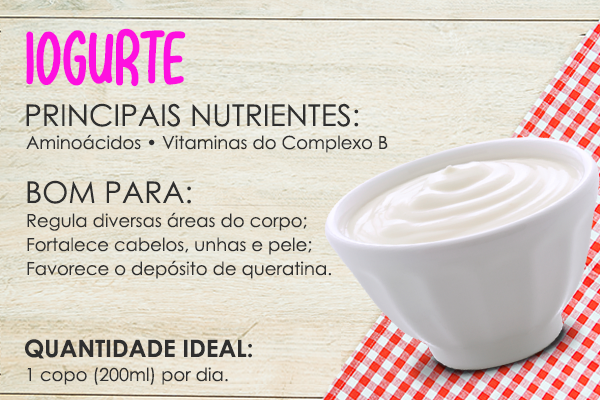 alimentos bons para cabelos iogurte natural