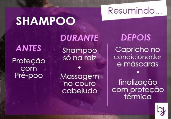 como lavar os fios com shampoo corretamente