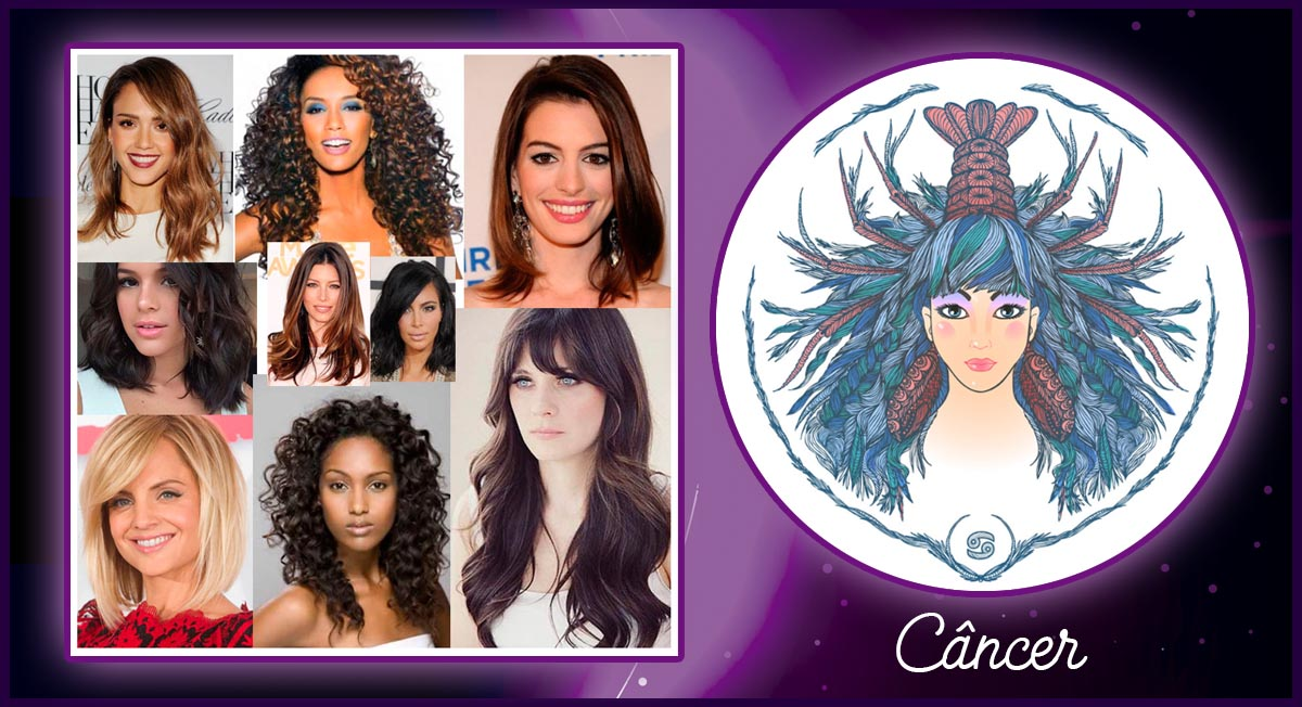 cabelo de cada signo - câncer
