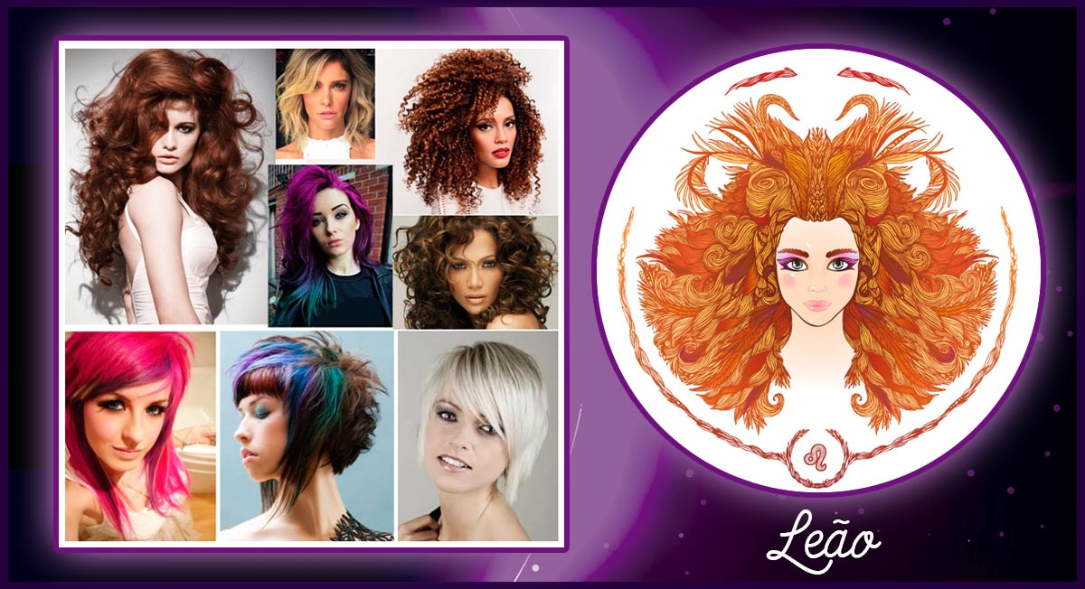 cabelo de cada signo - leão