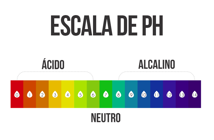 o que é pH - escala de pH - do ácido ao alcalino