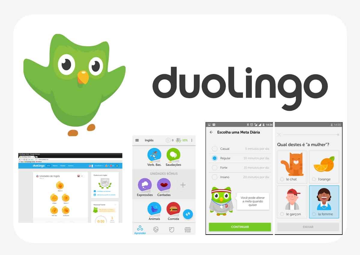 app para aprender idioma - duolingo