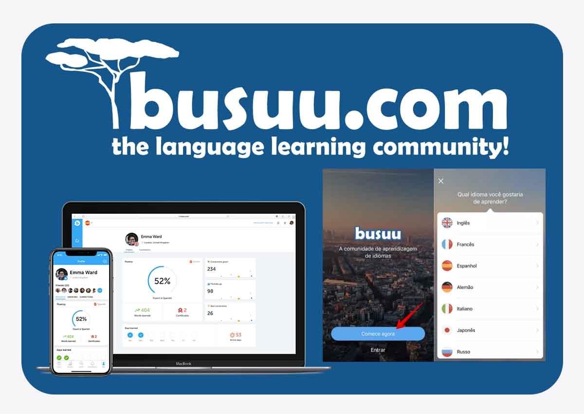 app para aprender idioma - busuu